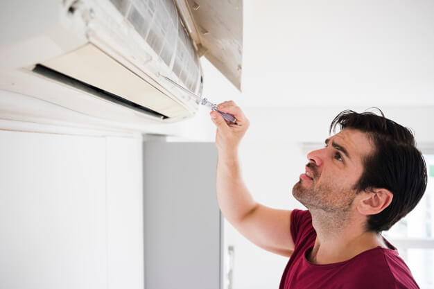 The air conditioner repairing service and facility